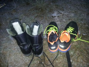 Yeah, I carried several pairs of shoes with me..